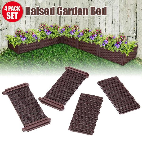 DIY Raised Garden Bed Set Flower Vegetables Planter Box Kit Corrosion Resistance