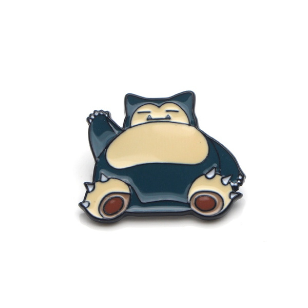 C402 Snorlax Cute Metal Enamel Pins and Brooches for Women Men Lapel Pin  backpack bags Hat badge Gifts
