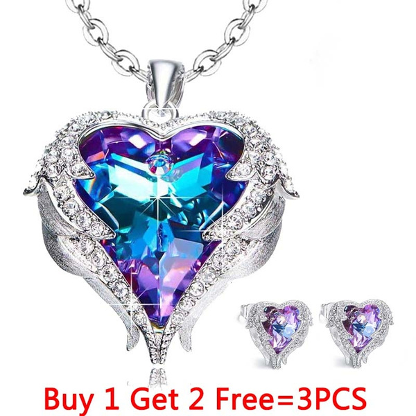 Blues, Heart, angelnecklace, Jewelry