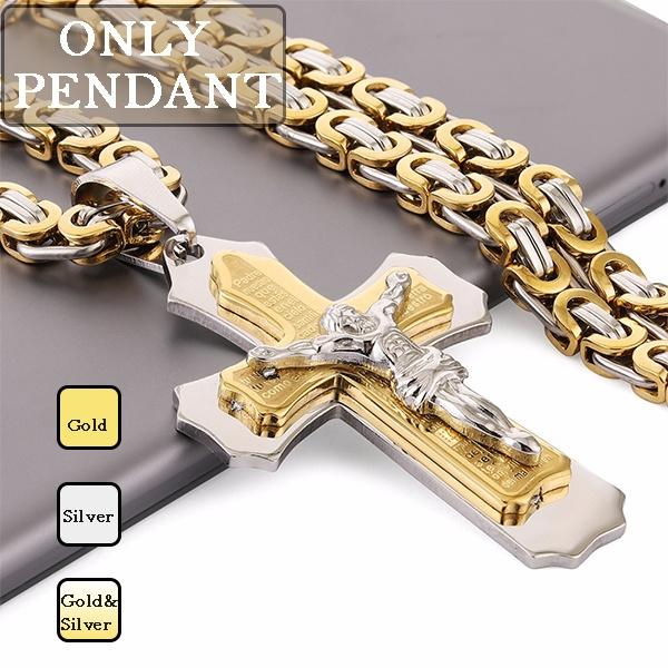mens necklaces, DIAMOND, Jewelry, Cross Pendant