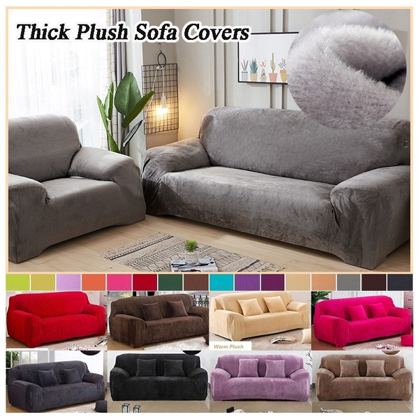 2019 New Plush Recliner Sofa Covers Retro Cover Soft Couch Slipcovers Dog Cat Pet Proof 13 Colors
