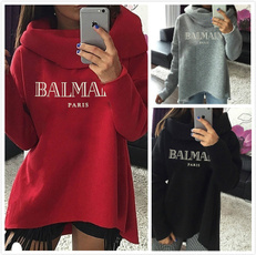 Fashion, letter print, womens pullovers, Women's Fashion