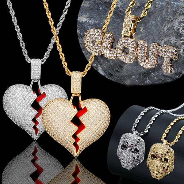 Heart, Men, Jewelry, gold