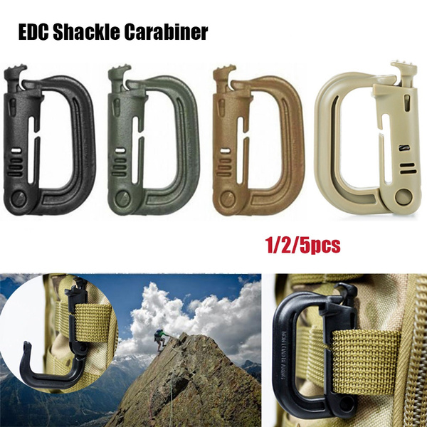 Snap D-ring Clip Webbing Backpack Buckle Shackle Carabiner Keyring Locking