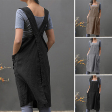 apron, Kitchen & Dining, women39sfashion, linentunicdre