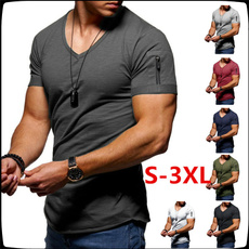 Mens T Shirt, Fitness, Shorts, Cotton T Shirt