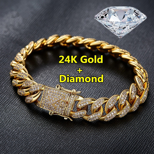24kgold, Fashion Jewelry, 18k gold, Chain