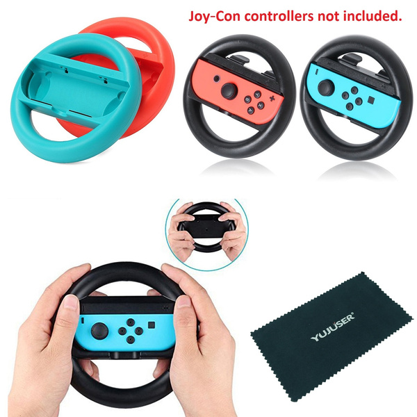 Yujuser Switch Steering Wheel For Mario Kart 8 Deluxe Switch