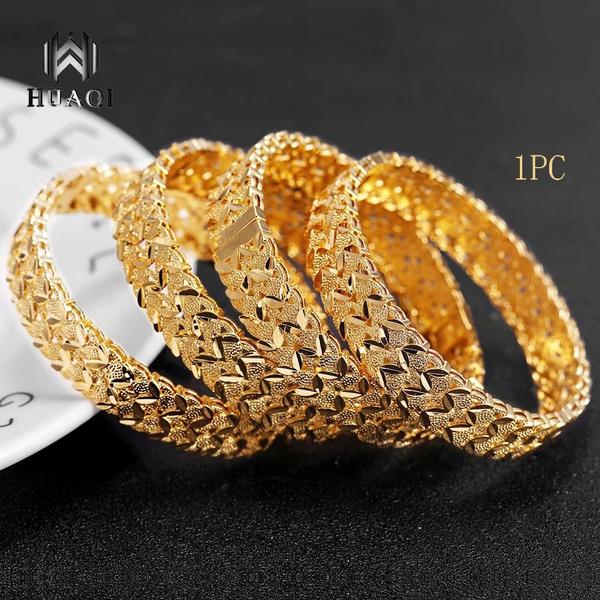 Exquisite 24k Gold Bangle Bracelet Cuff