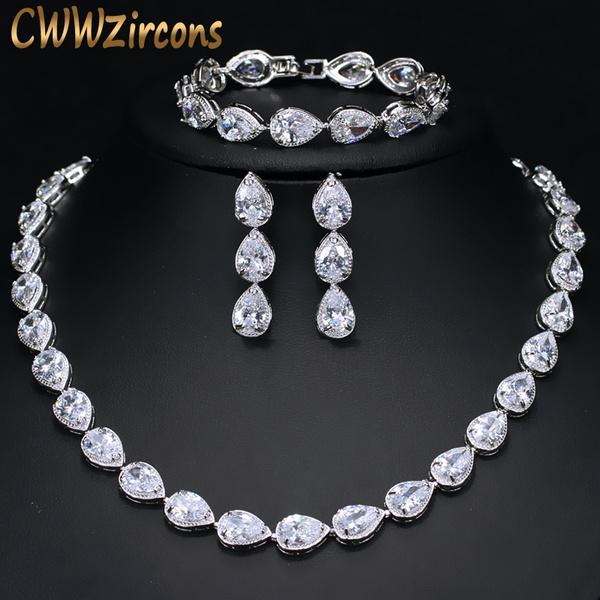 e92eddc5b CWWZircons High Quality 3 Piece Bridal Wedding Party Bracelet ...
