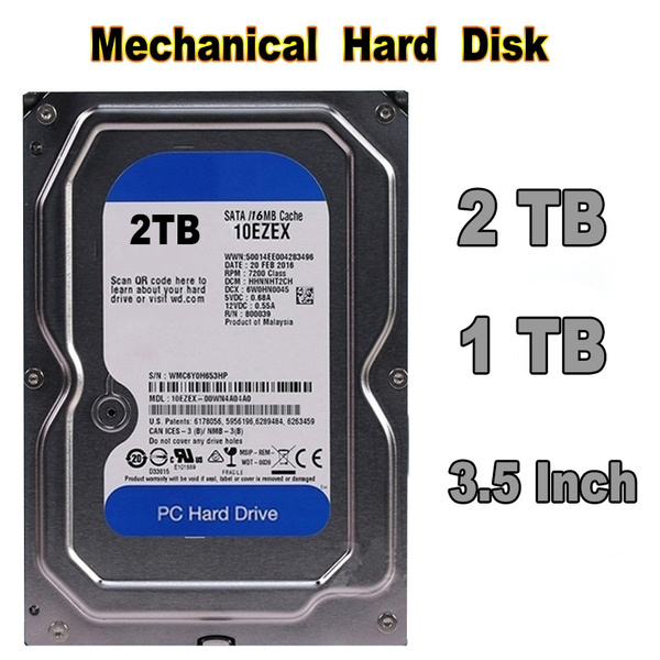SATA High-quality Second Hand 1TB/2TB Hard Drive Disk Internal HD HDD  7200RPM 16M for Desktop PC Computer 3 5 Inch