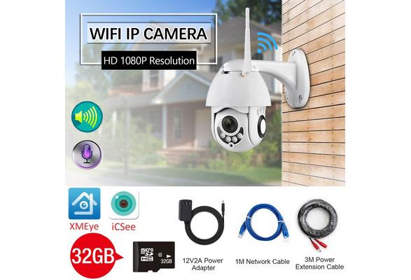 New IP Camera WiFi 2MP 1080P Wireless Speed Dome CCTV IR Onvif Camera  Outdoor Security Surveillance IpCam Camara Exterior