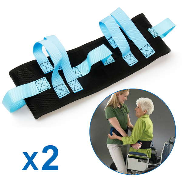 REAQER (2-pack) Transfer And Walking Gait Belt With 7