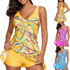 Summer, Plus Size, two piece bathing suit, Halter