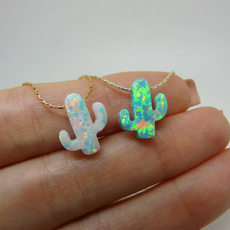 opalcactusnecklace, cactuspendant, Jewelry, Gifts