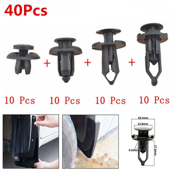 Car Push Retainer Pin Body Bumper Rivet Trim Moulding Clip Accessories Kit 40Pcs