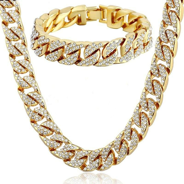 goldplated, yellow gold, Chain Necklace, Jewelry