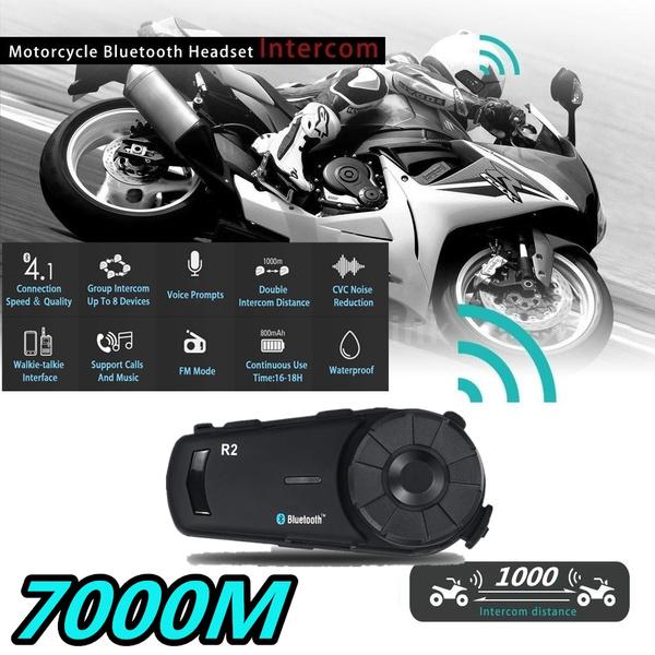 7000M Motorcycle Helmet Headset Intercom Interphone Wireless Bluetooth 4 1  CVC Professional Motorcycle Team