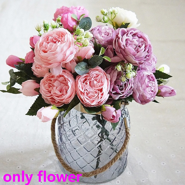 2019 Artificial Silk Peony Flower Bouquet For Wedding Party Home