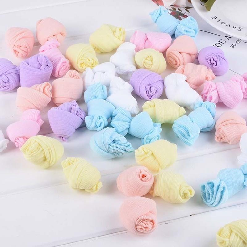 Игрушки NUKied Одноразовые дети носки мягкий хлопок носки младенца носки конфеты цвета носки для игры (5 пар / лот) (Фото 1)