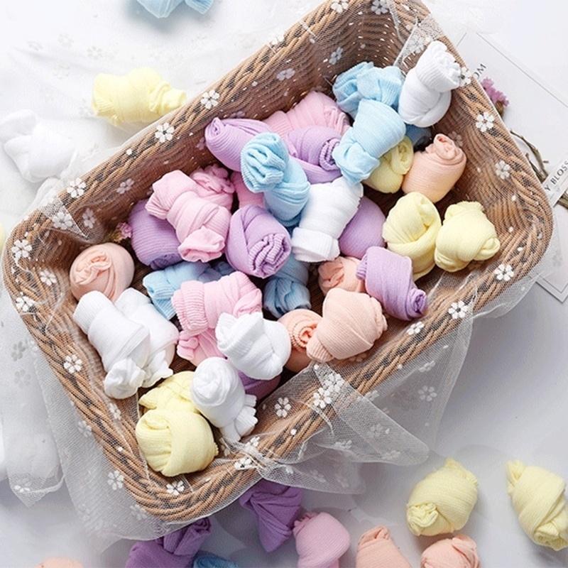 Игрушки NUKied Одноразовые дети носки мягкий хлопок носки младенца носки конфеты цвета носки для игры (5 пар / лот) (Фото 4)