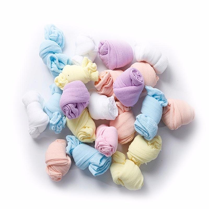 Игрушки NUKied Одноразовые дети носки мягкий хлопок носки младенца носки конфеты цвета носки для игры (5 пар / лот) (Фото 5)