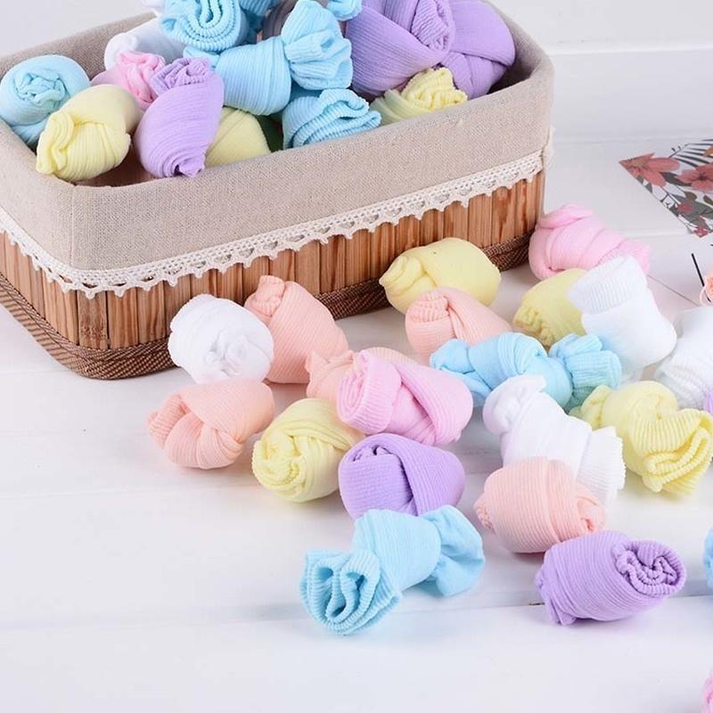 Одноразовые дети носки мягкий хлопок носки младенца носки конфеты цвета носки для игры (5 пар / лот)