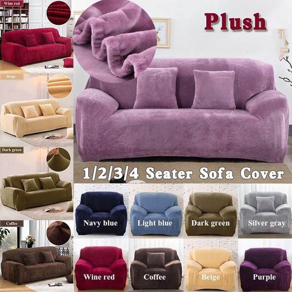 Cool 1 2 3 4 Seater Plush Fabirc Sofa Cover Thick Slipcover Stretch Couch Sofacovers Elastic Sofa Covers Towel Furniture Wrap Covering For Home Decration Theyellowbook Wood Chair Design Ideas Theyellowbookinfo