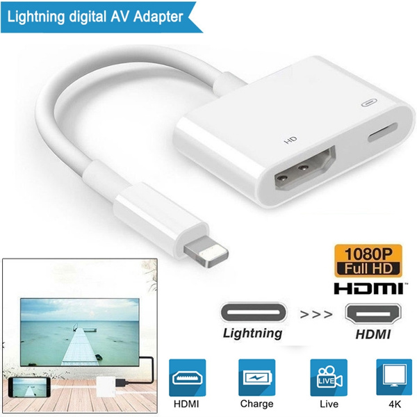 For Apple iPhone X 7 8Plus XS MAX Lightning to HDMI Digital AV TV Adapter Cable