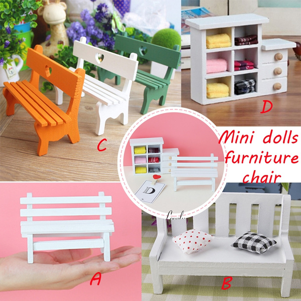 Groovy Mini Fairy Garden Wooden Chair Bench House Decor Mini Small Cupboard Shooting Props Dolls House Furniture Accessories Bralicious Painted Fabric Chair Ideas Braliciousco