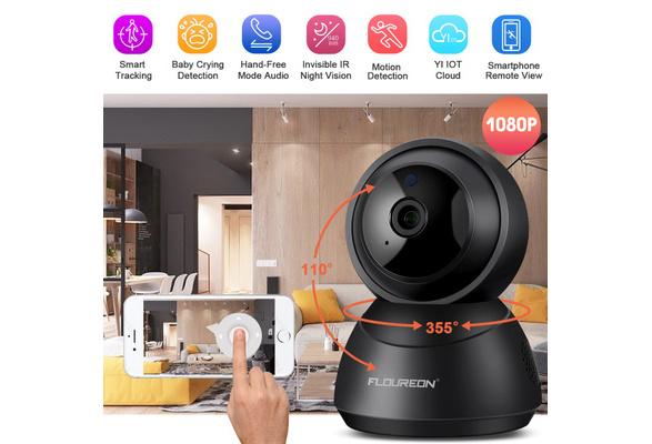 Zoom FLOUREON YI Cloud Home Camera 1080P Wireless IP Security Cam Pan Tilt