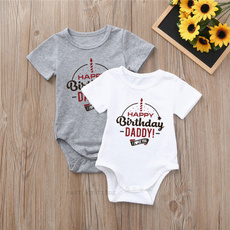 Happy Birthday Daddy Mum Says You/'re Welcome Boys Girls Baby Vest Grow Bodysuit