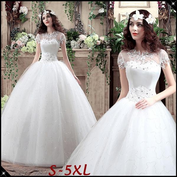 1950s Women Vintage Wedding Dress Elegant Lace Patchwork Wedding Gown Floor  Length Bridal Dress Ball Gown S-5XL