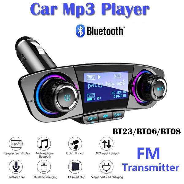 Bluetooth FM Transmitter Wireless Radio Adapter USB Car Mp3 Player Charger PU