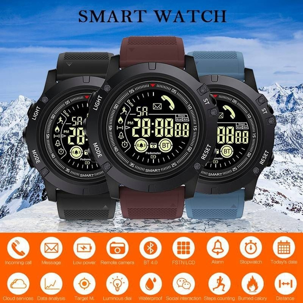 EX17S 1 24Inch Smart Watch Outdoor Sports 50 ATM/IP67 Call Information  Reminder Bluetooth Connection Long Standby Time Smart APP Control for IOS  and