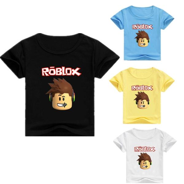 New Roblox T Shirt Character Head Kids Boys Girls T Shirt Tops For