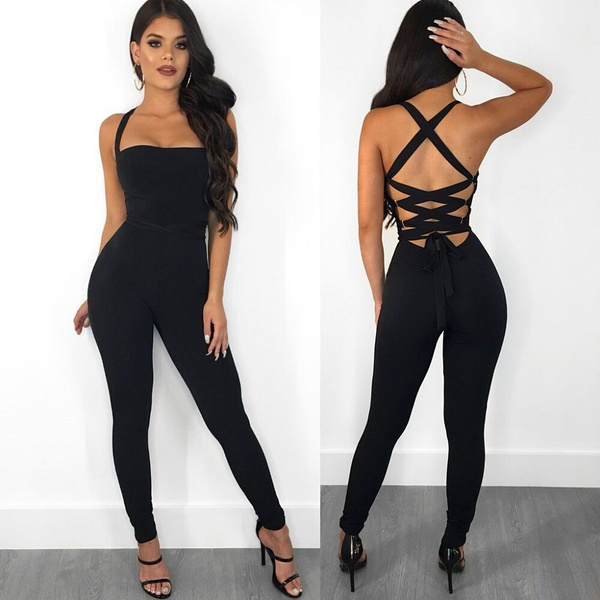 bodycon jumpsuits, party, trousers, backless