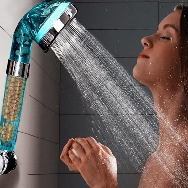 watersavingshower, Shower, Bathroom, buttonshower