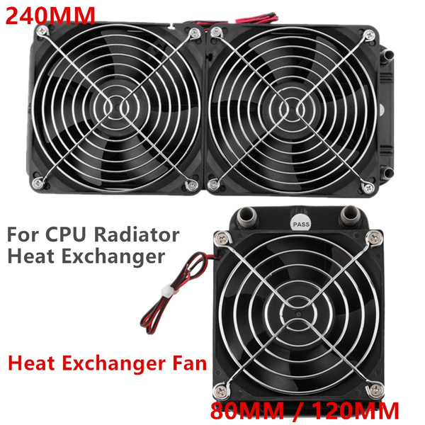 Aluminum 80mm Water Cooling cooled Row Heat Exchanger Radiator Fan for CPU PC