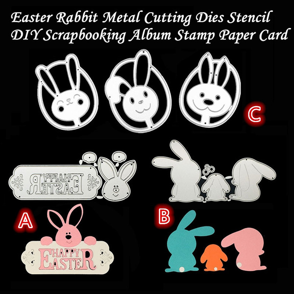 Easter Rabbit Metal Cutting Dies Stencil DIY Scrapbooking Embossing Crafts Decor