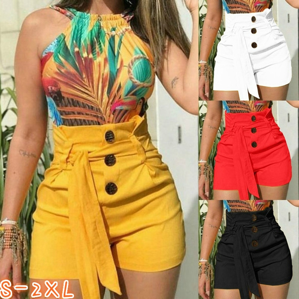 fac72846b4 2019 Summer Fashion Sexy Women's Fashion Sexy Drawstring High Waist ...