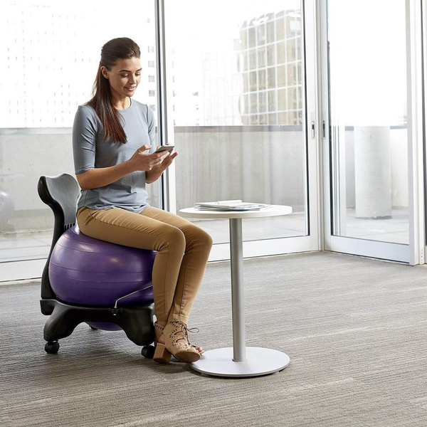 Gaiam Classic Gym Yoga Exercise Fitness Balance Ball Office Desk Chair Purple Wish