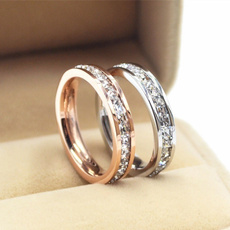 Steel, DIAMOND, wedding ring, Diamond Ring