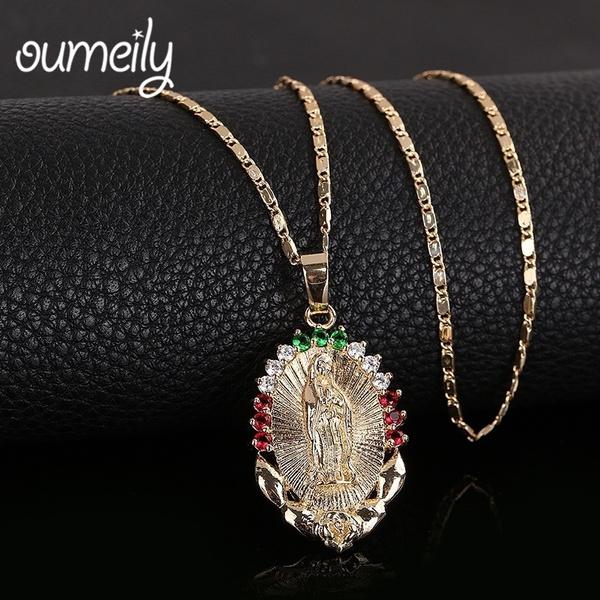 virginmarynecklace, Fashion Jewelry, Crystal, Fashion