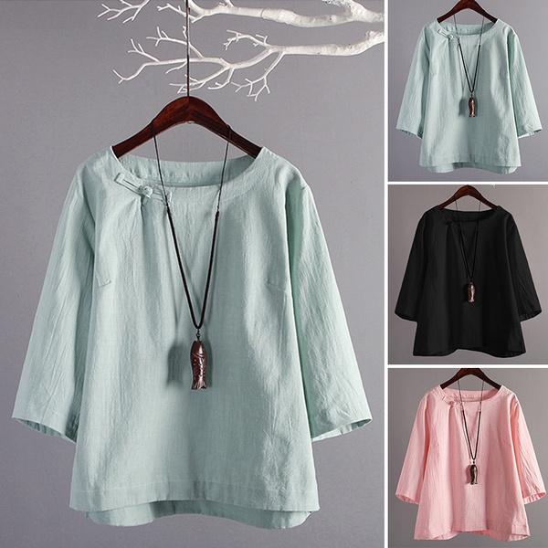 shirtsforwomen, blouse, Plus Size, Cotton