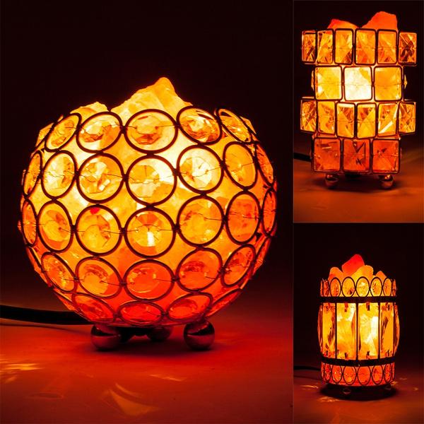 Night Light, Home Decor, saltlamp, Metal