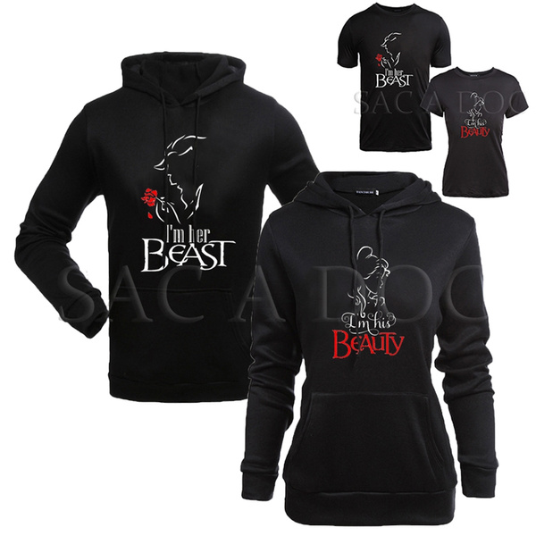 Beauty and Beast Couple Sweaters New Color His And Hers Love Matching Crewnecks