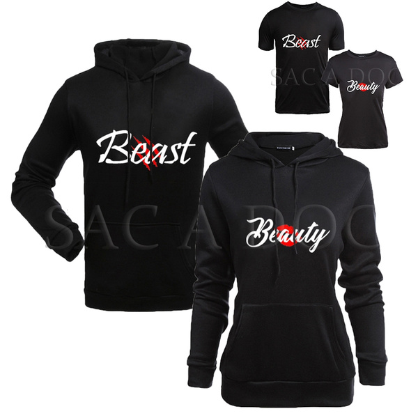 Beauty Beast Matching Shirts Couple T-shirts His And Hers Matching Love Tees