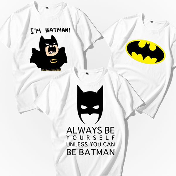 9ef33228f Batman Shirts Matching T-shirts for Couples Matching Tshirts Anniversary  Gift Fashion Women Men T-shirt | Wish