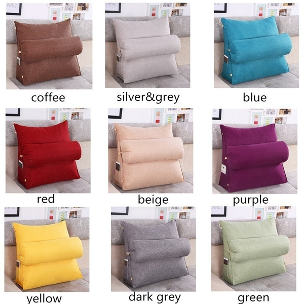 Bed Pillows Bed Rest Reading Pillow Bed Sofa Office Chair Lounger ...